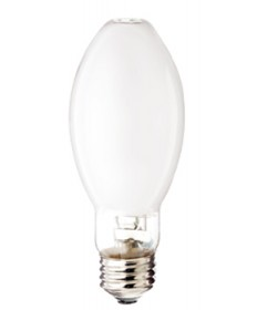 Satco S4847 Satco MP50/C/U/UVS/3K/PS 50 Watt EDX17 E26 Medium Base Pulse Start Coated Open Fixture Metal Halide Light Bulb