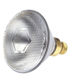 Satco S4573 Satco 65PAR/SP 65 Watt PAR-38 120 Volt E26 Medium Skirt Base Clear 1750 Hours Spot Reflector Light Bulb