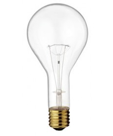 Satco S4961 Satco 300 Watt 130 Volt PS35 Mogul Base Clear Incandescent Light Bulb