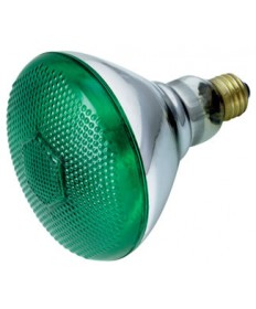 Satco S5005 Satco 100BR38/G 230V 100 Watt 230 Volt BR38 Medium Base Green Weatherproof Reflector Flood