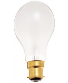 Satco S5030 Satco 40A19/F 130V 40 Watt 130 Volt A19 Euro Double Contact Base Frosted Light Bulb