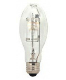 Satco S5863 Satco MP175/U/MED/PS 175 Watt ED17 E26 Medium Base M152/O ANSI 4200K Universal Burn Position 15,000 Hour Metal Halide Lamp