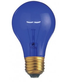 Satco S6082 Satco Light Bulbs 25A/TB - 25 Watt - 130 Volt - A19 - Transparent Blue - Incandescent Light Bulb