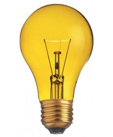 Satco S6083 Satco Light Bulbs 25A/TY - 25 Watt - 130 Volt - A19 - Transparent Yellow - Incandescent Light Bulb