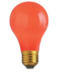 Satco S4980 Satco 40A/R 40 Watt 130 Volt A19 Medium Base Ceramic Red Incandescent Light Bulb