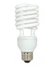 Satco S6275 Satco 23 Watt 120 Volt T2 Ultra Mini Spiral E26 Medium Base 4100K 10,000 Hour Eco-Friendly Compact Fluorescent Lamp (CFL)