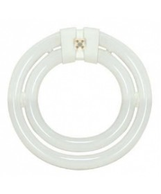 Satco S6508 Satco 40 Watt T9 4-Pin G10Q Base 3000K Soft White 10,000 Hour 2C Circline Compact Fluorescent Lamp (CFL)