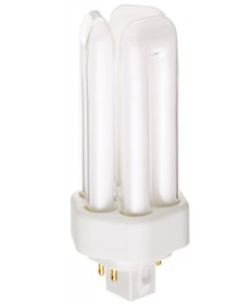 Satco S6744 Satco CF18DT/E/IN/841 18 Watt 120 Volt T4 Triple Tube GX24q-2 4 Pin Base Electronic Compact Fluorescent Light Bulb (CFL)