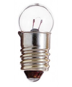 Satco S6936 Satco 2.5 Watt (0.5 Amp) 5 Volt G4.5 Mini Screw Base Clear Miniature Light Bulb