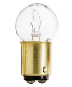 Satco S6950 Satco 9.32 Watt (0.69 Amp) 13.5 Volt G6 Single Contact Bayonet Base Clear Miniature Light Bulb