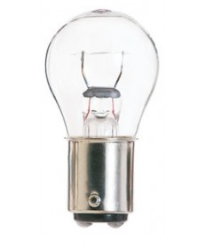 Satco E306 Satco 14.28 Watt (0.51 Amp) 28 Volt Double Contact Bayonet Base Clear Miniature Light Bulb