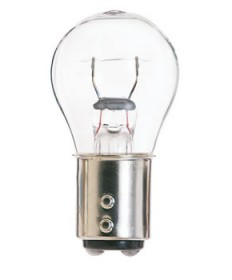 Satco S6958 Satco 2.1 Amp 12.8 Volt S8 Double Contact Index Base Amber Miniature Light Bulb