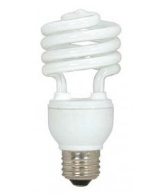 Satco S5523 Satco 18 Watt 120 Volt T2 Ultra Mini Spiral E26 Medium Base Energy Star Certified 2700K