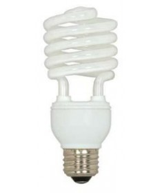 Satco S5528 Satco 23 Watt 120 Volt T2 Ultra Mini Spiral E26 Medium Base 5000K 10,000 Hour Eco-Friendly Compact Fluorescent Light Bulb (CFL)