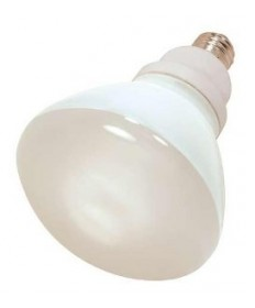 Satco S7243 Satco 23 Watt 120 Volt R40 E26 Medium Base 5000K 10,000 Hour Eco-Friendly Compact Fluorescent Reflector Lamp (CFL)