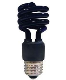 Satco S7277 Satco 13 Watt 120 Volt T2 Ultra Mini Spiral E26 Medium Base Blacklight 10,000 Hour Party Compact Fluorescent Light Bulb (CFL)