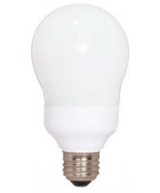 Satco S5574 Satco 11 Watt 120 Volt A19 E26 Medium Base 5000K 10,000 Hour Eco-Friendly A-Type Compact Fluorescent Light Bulb (CFL)