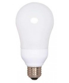 Satco S7293 Satco 15 Watt 120 Volt A19 E26 Medium Base 5000K 10,000 Hour Eco-Friendly A-Type Compact Fluorescent Light Bulb (CFL)
