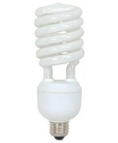 Satco S7335 Satco 40 Watt 120 Volt Spiral T4 E26 Medium Base Professional Series Hi-Pro Eco-Friendly 4100K 10,000 Hour Compact Fluorescent Lamp (CFL)