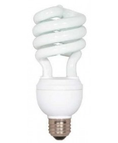 Satco S5594 Satco 12/20/26 Watt 120 Volt Spiral E26 Medium Base 3 Way 5000K 10,000 Hour Compact Fluorescent Light Bulb (CFL)