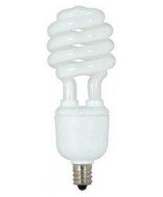 Satco S7365 Satco 13 Watt 120 Volt T2 Ultra Mini Spiral E12 Candelabra Base 4100K 10,000 Hour Eco-Friendly Compact Fluorescent Lamp (CFL)