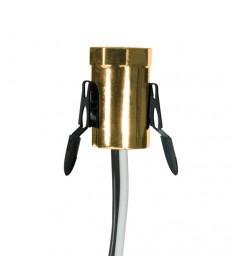Satco 80/1794 Satco 75W-125V Gold Candelabra Base Phenolic Socket with Spring Clip