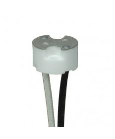 "Satco 80/1873 80-1873 Satco Porcelain Halogen G8 Socket 6"" 200°C Leads 1,000W-250V"