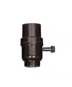 Satco 80/1927 Phenolic 3-Way Turn Knob Medium Base Socket