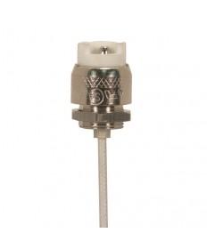 Satco 90/1561 Halogen Socket R7S 6'' inch. Leads