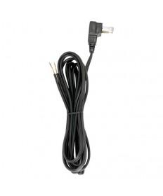 "Satco 90/2321 Satco 90-2321 Black 8FT 18/2 SPT-2 105C Molded Plug Tinned Tips 3/4"" Strip w/2"" Slit Flat Plug Cord Set"