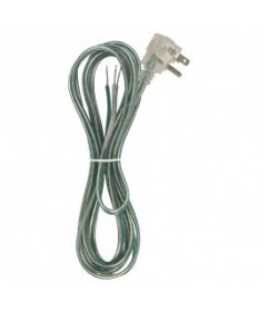 Satco 90/2436 Flat Plug Cord Set 18/3 Clear Green Ground 10 Ft