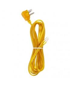 Satco 90/2437 Satco Clear Gold Flat Plug Cord Set 18/3 SPT-2-105°C