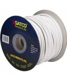Satco 93/144 Bulk Lamp Wire Spool White 250 Feet 18/3 SVT