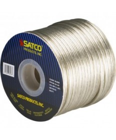 Satco 93/167 Satco 93-167 16/2 SPT-2 105C 250FT Clear Silver Spool Wire