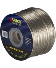 Satco 93/168 Satco 93-168 18/2 SPT-2 105C 250FT Clear Silver Spool