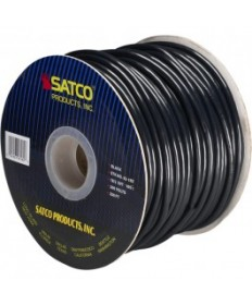 Satco 93/182 Satco 93-182 18/3 SVT 105C Pulley Cord 250FT Black Spool Wire