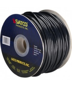 Satco 93/183 Satco 93-183 18/2 SVT 105C Pulley Cord 250FT Black Spool