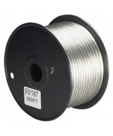 Satco 93/187 Satco 93-187 Clear Silver 20/2 Wire 250FT Spool Wire