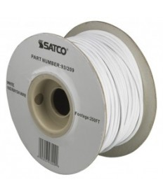Satco 93/209 Satco 93-209 White 18/2 Rayon Wire 250FT Spool Wire