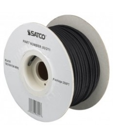 Satco 93/211 Bulk Wire Black 18/2 Rayon Wire Spool 250FT