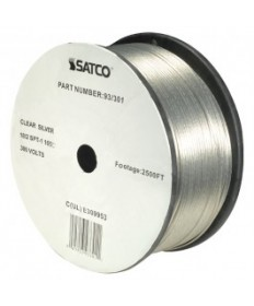 Satco 93/301 Satco 93-301 Clear Silver 2500FT 18/2 SPT-1 105C Wire Reel