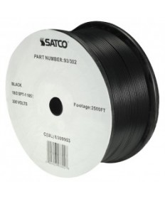 Satco 93/302 Satco 93-302 Black 2500FT 18/2 SPT-1 105C Wire Reel