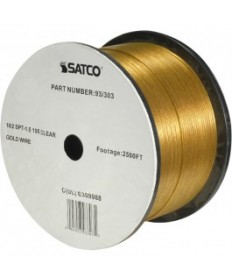 Satco 93/303 Satco 93-303 Clear Gold 2500FT 18/2 SPT-1.5 105C Wire Reel