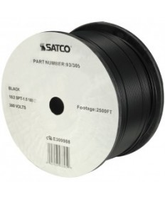 Satco 93/305 Satco 93-305 Black 2500FT 18/2 SPT-1.5 105C Wire Reel