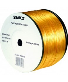 Satco 93/306 Satco 93-306 Clear Gold 2500FT 18/2 SPT-2 105C Wire Reel