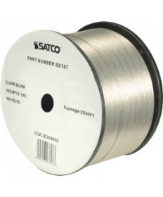 Satco 93/307 Satco 93-307 Clear Silver 2500FT 18/2 SPT-2 105C Wire Reel