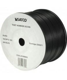 Satco 93/308 93-308 Satco Black 2500FT 18/2 SPT-2 105C Wire Reel