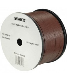 Satco 93/310 Satco 93-310 Brown 2500FT 18/2 SPT-2 105C Wire Reel