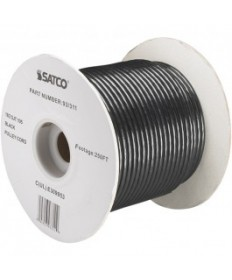 Satco 93/311 Satco 93-311 18/2 SJT 105C Pulley Cord 250FT Black Spool Wire
