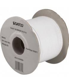 Satco 93/316 Satco 93-316 18/1 AWM 105C UL 1015 Wire White 500FT Spool Wire